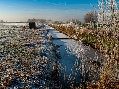 De Hoge Dijk in de winter